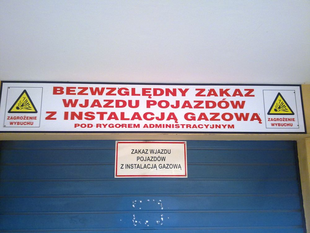 Tablica wjazd do garażu